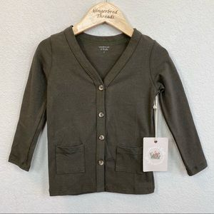 Woodmouse & Thistle Olive Green Cardigan NWT